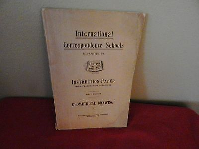 INTERNATIONAL CORRESPONDENCE SCHOOLS ICS - INSTRUCTION PAPER GEOMETRICAL DRAWING
