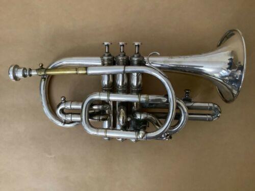 Antique cornet by J Higham c1901 SN 55439. For restoration.
