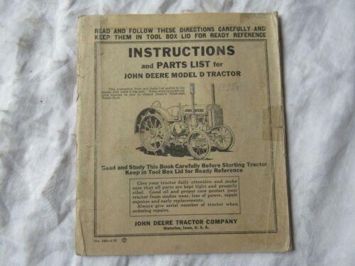 1935 John Deere model D tractor operator