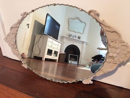 Antique Mirror with Scalloped edge