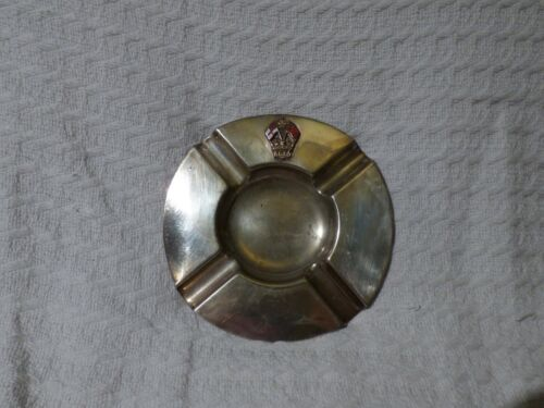 Antique King George's Fund for Sailors KGFS Navy Silver-Plated Ashtray & Badge