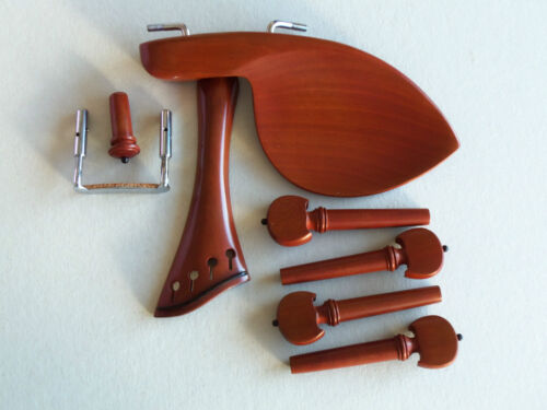 Set Boxwood French Style -Guarnerri  - Compensated Tailpiece & Black Accents