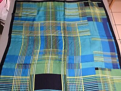 Vintage Scarf Styles -1920s to 1960s 1960'S Vintage Oscar De La Renta  MODERNIT CUBIST ABSTRACT Scarf 36