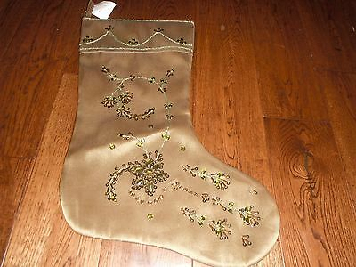 Hobby Lobby Sequin Rhinestone Embroidered Christmas Stocking NWT