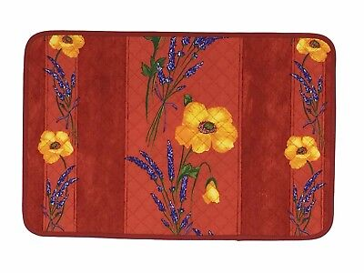 Set of 6 Cotton  Placemats Provencal Poppies Coquelicots Red Made In France