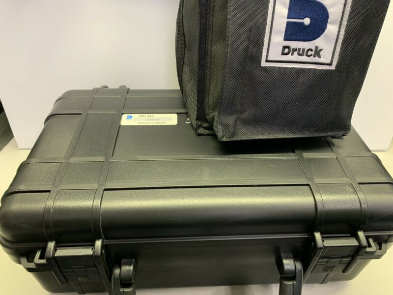 GE Druck DPI 330 10,000 psi (700 bar) Pressure Calibrator Kit DPI-330 >Portable<