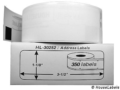 1.89 Each Roll 350 Labels Flat Ship 6.89 Dymo Labelwriter Lw 30252 Fast Ship