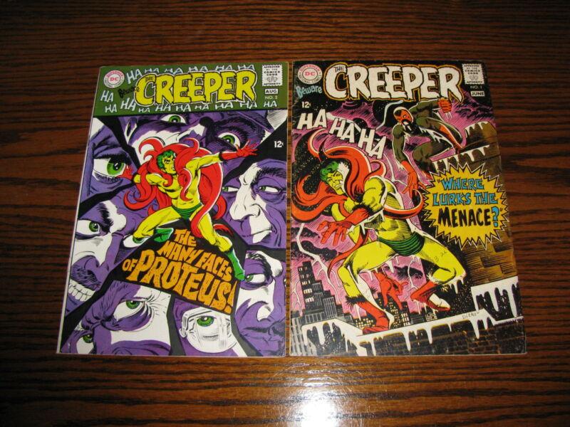 DC - BEWARE THE CREEPER #1 and #2 Comic Lot!!  1968 Glossy FN
