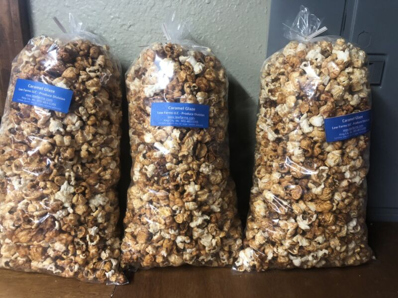 Caramel Popcorn 3 Bags - Free Shipping