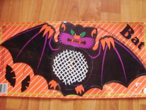 "18"" Bat Halloween Hanging Honeycomb Decoration Vintage Eureka NOS"