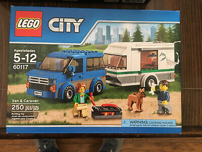 LEGO City 60117 Van & Caravan Building Kit (250 pc) Sealed NEW Retired