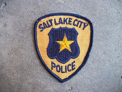 vintage 1970 Salt Lake City Utah Police Patch star