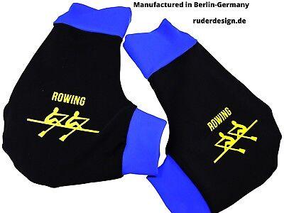 Herren Unisex Kurzarm T-Shirt Rowing Logo Rudern Ruderer Schriftzug Wassersport Bootsport
