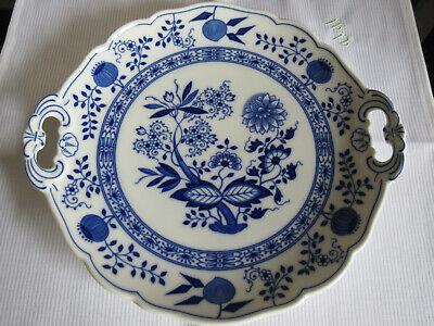 Oval 32 cm Cobalt Platte Zwiebelmuster Tirschenreuth