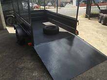 GREAT FOR LOWN MOVER 8X5 HI SIDE+RAMP &600MM CAGE $1990 Penrith Area Preview