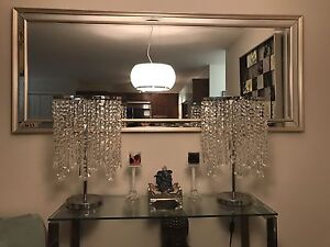 Clear crystal chandelier lamps