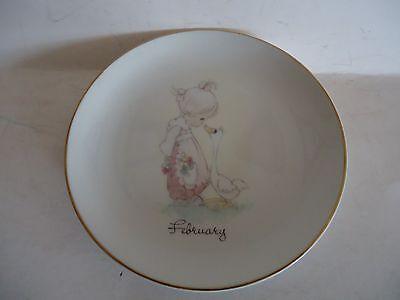 """February"" Precious Moments Plate 1983"