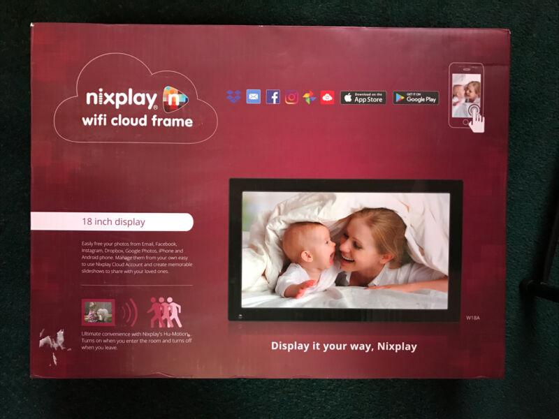 "Nixplay 18"" Digital Wifi Cloud Photo/Video Frame -  Brand New In Box Model W18A"