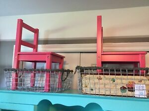 2 pink kids chairs- furniture