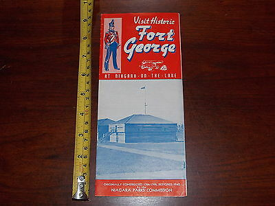 RARE OLD VINTAGE BROCHURE FORT GEORGE NIAGARA ON THE LAKE PARKS COMMISSION