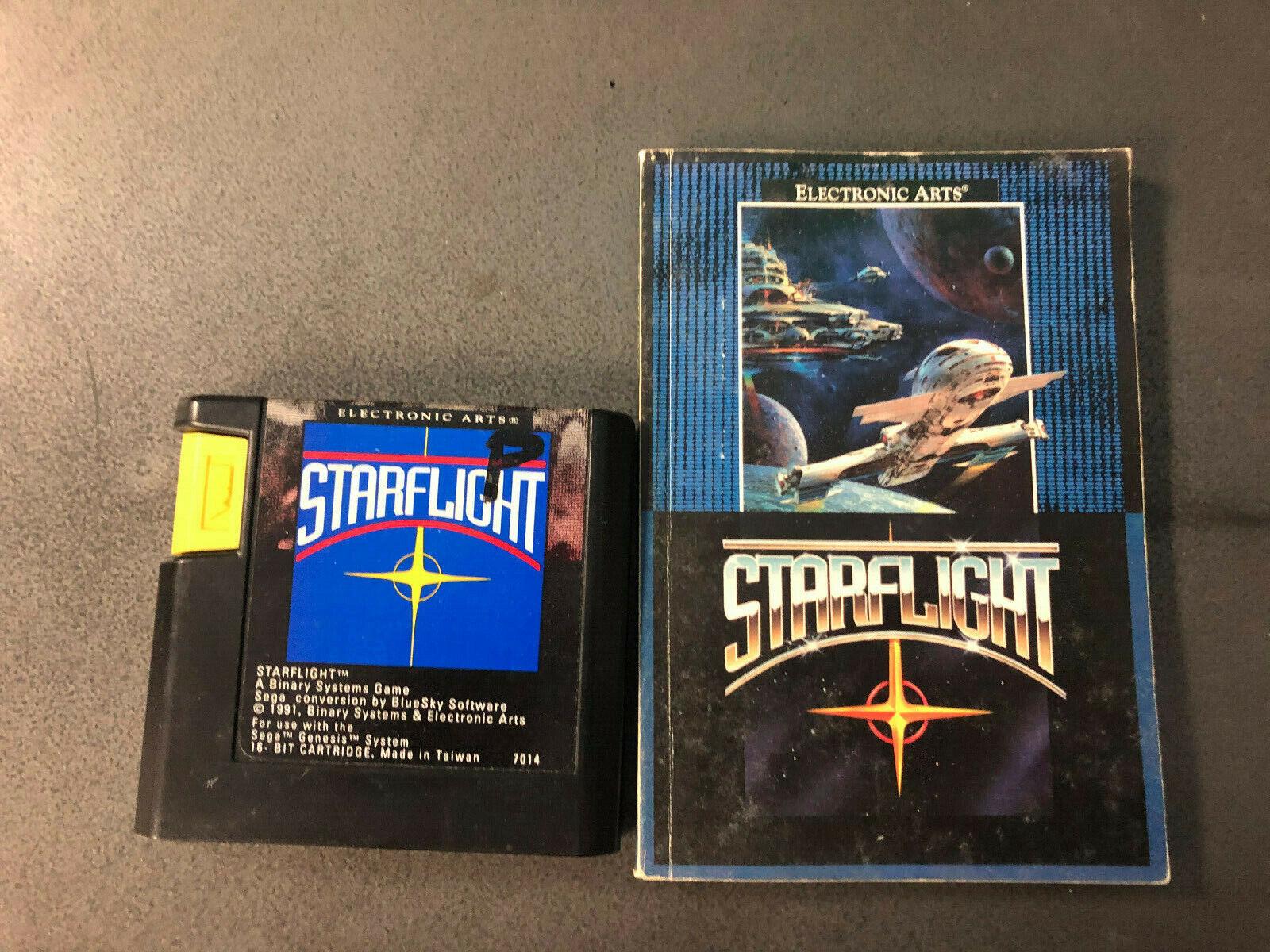 Starflight Sega Genesis, 1991 W/ Manual Authentic RARE Tested  - $20.00