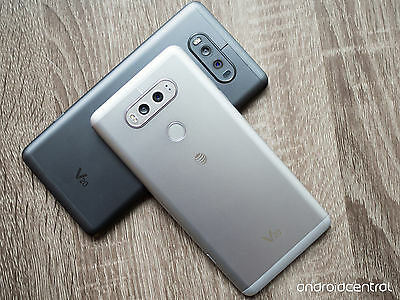 New  Lg V20 H910 At T Android 7 64Gb 16Mp Smartphone Silver Titan Gray