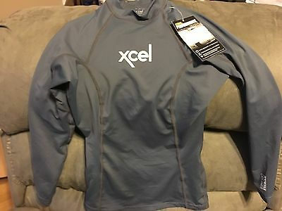 Xcel Performance Series Lycra Womens Long Sleeve Size 4   Space Gray  Brand New
