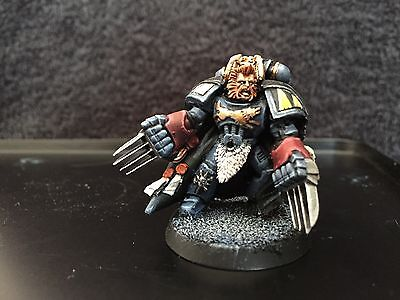 Warhammer 40k Space Marines Space Wolves Wolf Lord Fully painted
