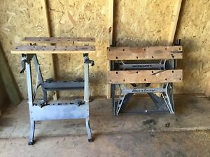 Two workmate folding benches