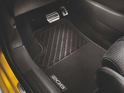 Genuine Peugeot 208 Tailored Rubber Floor Mats 1606632380 2012-2019