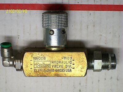 Parker Brass Hydraulic Valve 2000 Psi N600b
