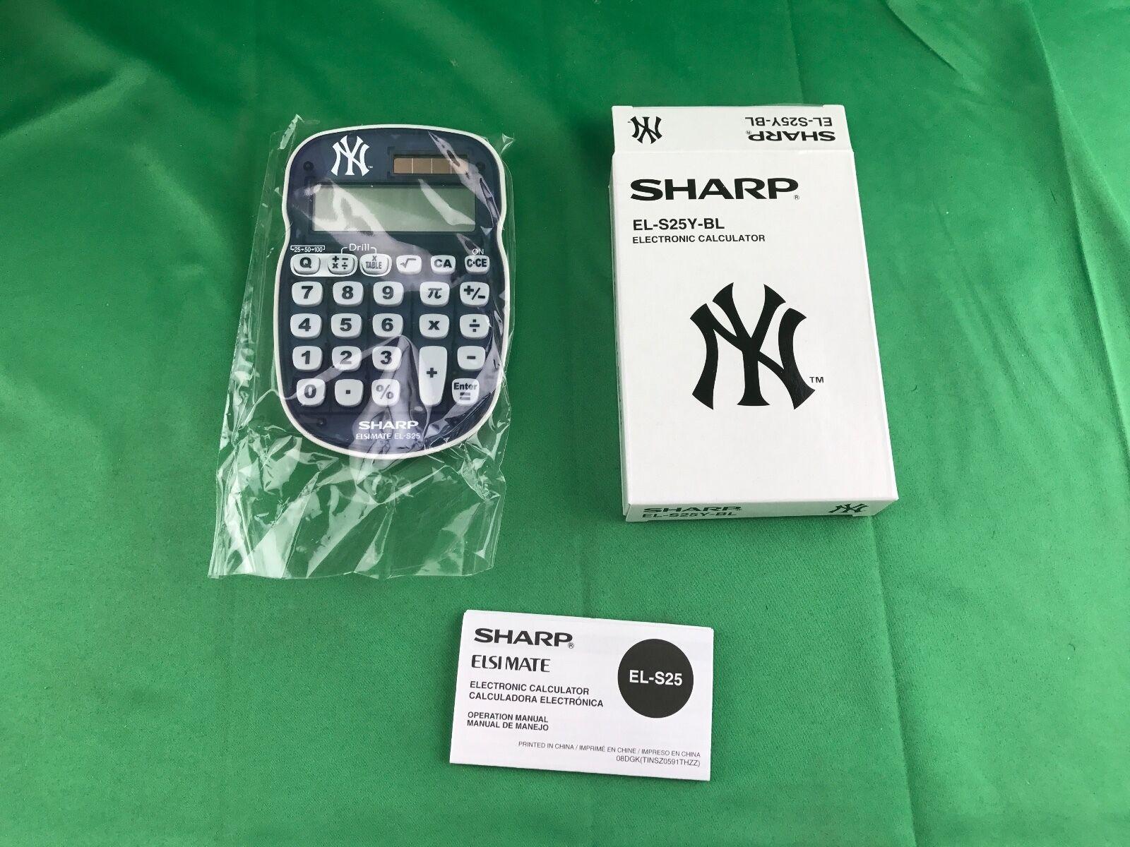 SHARP NY Electronic Calculator EL-S25Y-BL