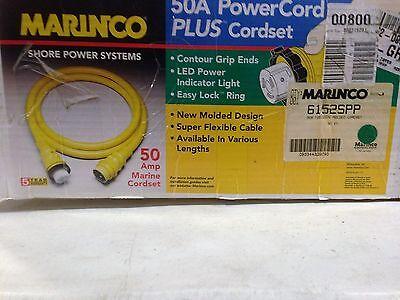 Marinco Shore Power System  50 A Power Cord  plus Cord Setp/n 6152SPP 50a Shore Power