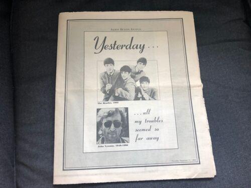 Vintage 1980 JOHN LENNON Akron Beacon Journal Magazine Yesterday all my Troubles
