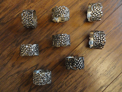 Godinger Silver Art GSA Grapevine Napkin Rings Set of 8