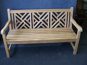 TEAK - Denfer 3 seat bench - 150cm - wide. Kent Town Norwood Area Preview