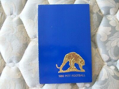1980 Pitt Panthers Football Media Guide Yearbook Dan Marino Green Pittsburgh Ad