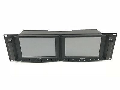 DELVCAM DELV-7HDRM HD/Analog Dual Rackmount LCD Monitor with -