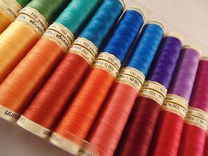 Gutermann-coser-100-m-Hilo-De-Poliester-Elige-uno-color-Paquete-de-5