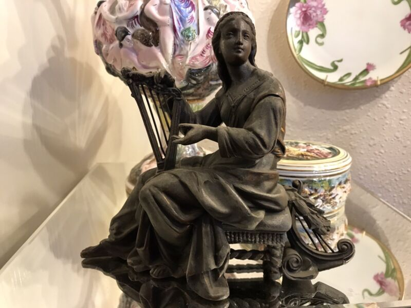 Figural Cast Lady. Gorgeous! Perfect Condition