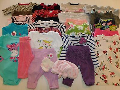Baby Girl 0-3 3-6 Month Fall Winter Pants Dress Bodysuit Tops Clothes Outfit Lot