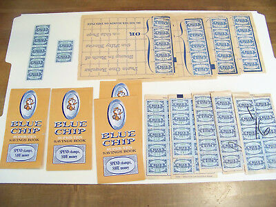 Blue Chip Stamps - Some loose, some in books, some empty books