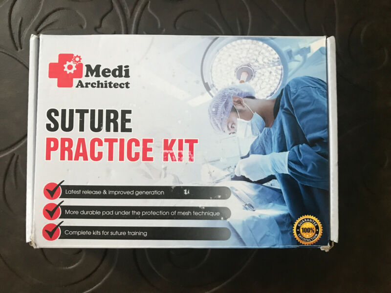 Suture Practice Kit 30 Pcs for Medical Student Suture Training MEDI ARCHITECT