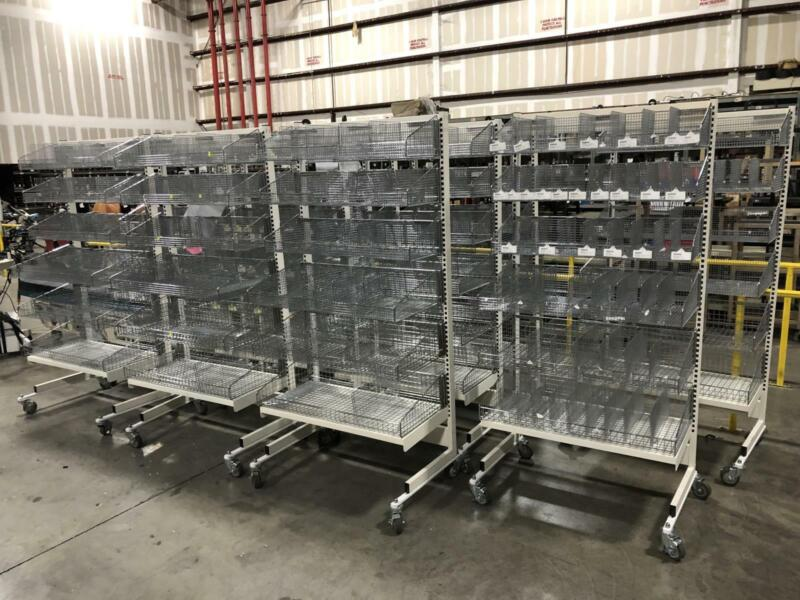 """Logiquip Industrial Wire Shelving On Wheels 38""""W x 26""""D x 76""""H"""