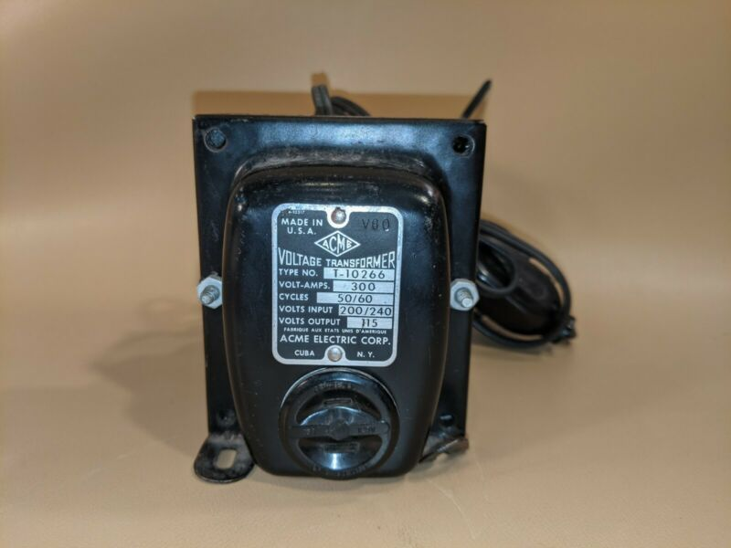 Acme Voltage Transformer Type No T-10266 USA Electric Corp