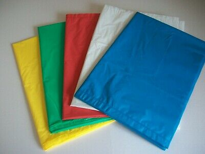 50 x MULTI Coloured Refuse Sacks, Rubbish Waste Bin Liner Bags 18 x 29 x 39