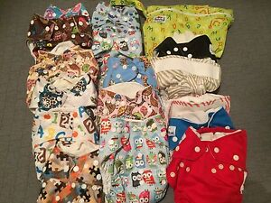 Mixed lot of cloth diapers