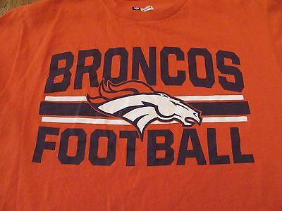 Denver Broncos Football NFL Fan Orange SS T Shirt Size L