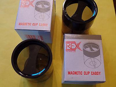 2 Magnetic Desk Top Paper Clip Dispenser Holder Caddy Free Shipping Usa Seller