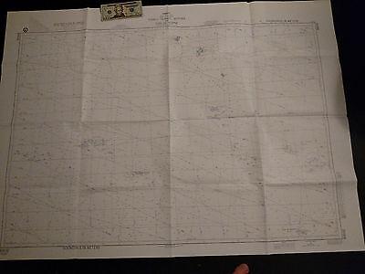 Antique Vintage US Navy  Nautical Chart  Aeronautical Map  Tuvalo Island Pacific Navy Chart Map
